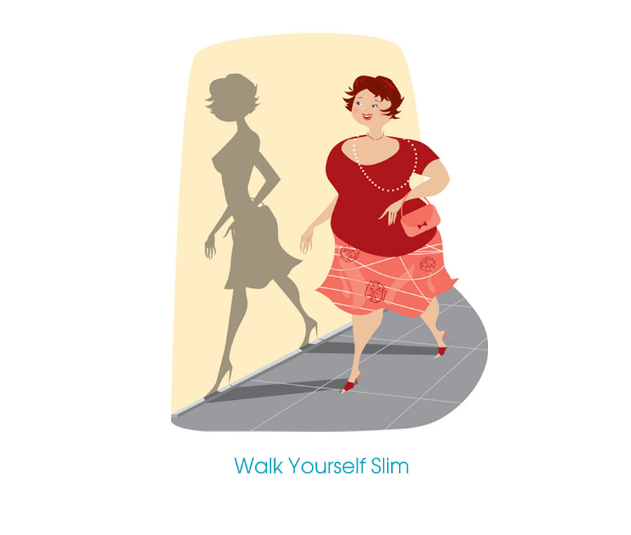 Walk yourself ,slim,walk
