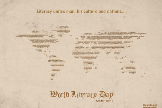 world literacy day Saturday  8 September 2012.